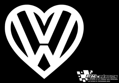 Sticker Coeur VW