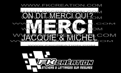 Sticker On dit merci qui? v2