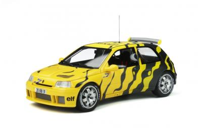 OT822 1/18 Renault Clio Maxi Presentation 1995 Black and Yellow Ottomobile