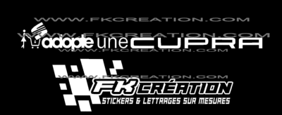 Sticker Adopte une cupra version 2