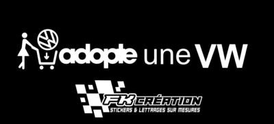 Sticker Adopte une vw