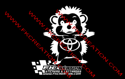 Sticker herisson toyota