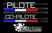 Kit lettrage pilote co-pilote rallye version 4