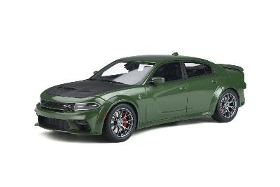 GT303 1/18 2020 DODGE CHARGER HELLCAT WIDEBODY F8 GREEN Gt Spirit