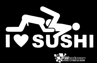 Sticker I love sushi gay