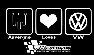 Sticker auvergne love vw