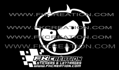 Sticker pig demon jdm