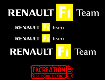 sticker megane r25 f1 team