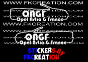 Sticker Opel Astra G France cab Gauche et Droite