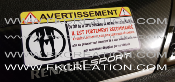 Sticker avertissement string