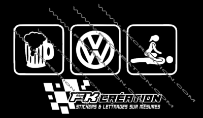 Sticker Biere vw sexe