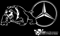Sticker Bulldog mercedes benz