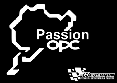 Sticker Nürburgring passion opc