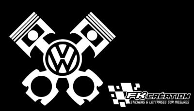 Sticker piston vw