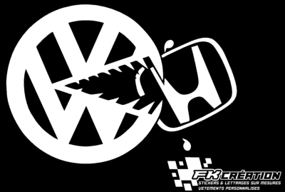 Sticker VW mange Honda