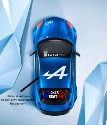 Sticker de toit A Alpine a110