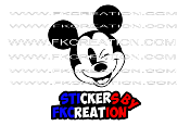 Sticker Tête Mickey