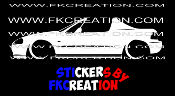 Sticker  silhouette Honda civic del sol