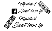 Sticker facebook seat leon 1p