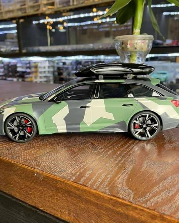 Audi RS6 (C8) AVANT Camouflage Avec coffre de toit ...
