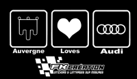 Sticker auvergne love audi