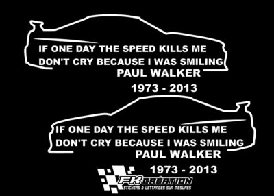 Sticker Skyline Paul walker