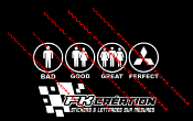 Sticker Bad good great perfect mitsubishi
